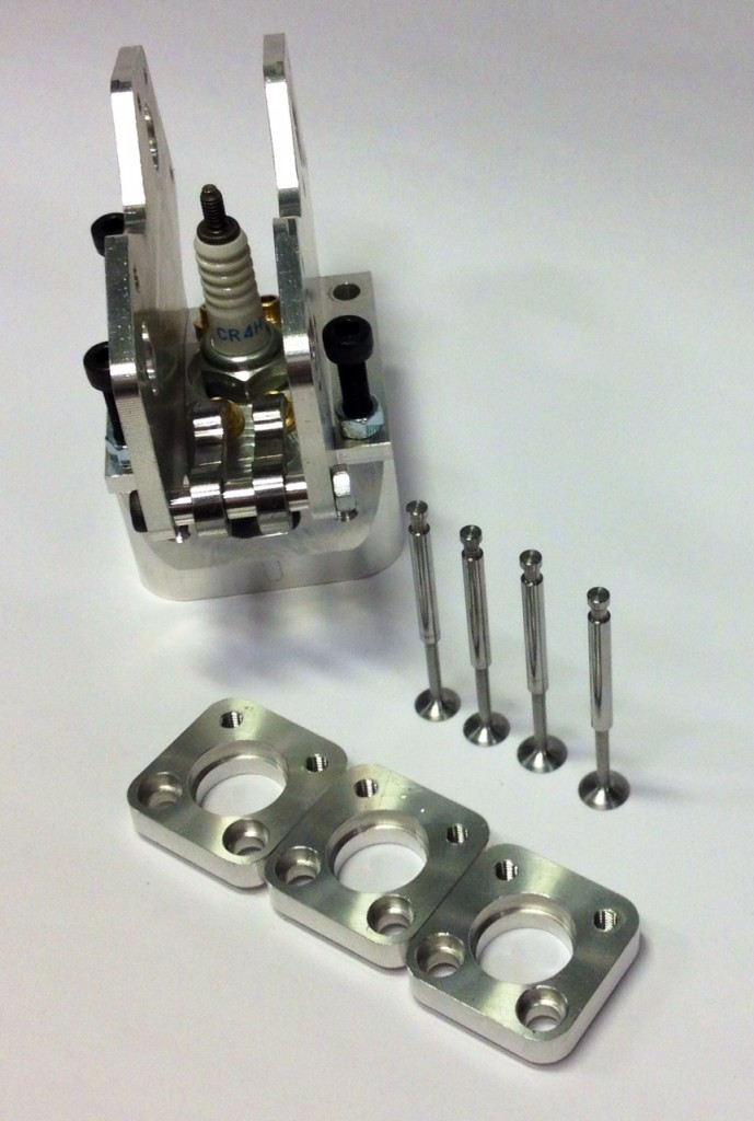 Cylinder head, valves and cam bearing holder.